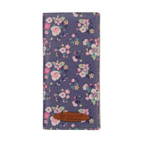 Fancy Colorful Personality and Simple Cartoon Pattern Leather Wallet