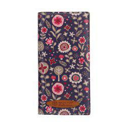Colorful Personality and Simple Cartoon Pattern Leather Wallet -