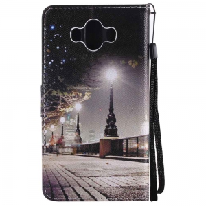 Cityscape Painted Pu Phone Case for HUAWEI Mate 10 -