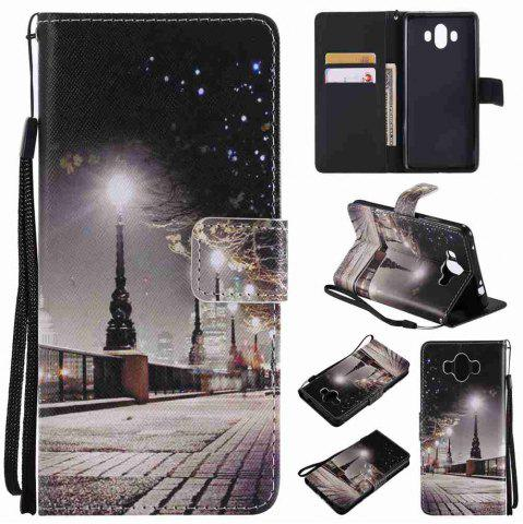 Latest Cityscape Painted Pu Phone Case for HUAWEI Mate 10
