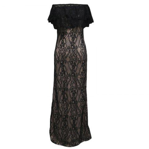 Discount 2017 New Sexy Strapless Lace Gown Dress
