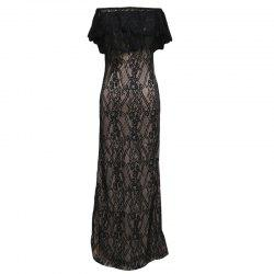 2017 New Sexy Strapless Lace Gown Dress -