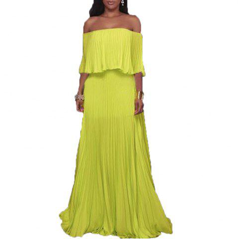 Sale 2017 New Type of Collar with Bare Shoulder Chiffon Dress