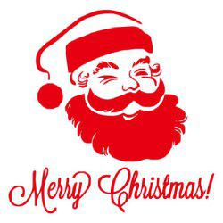 DSU Merry Christmas Wall Sticker Santa Snowman Decal Window -