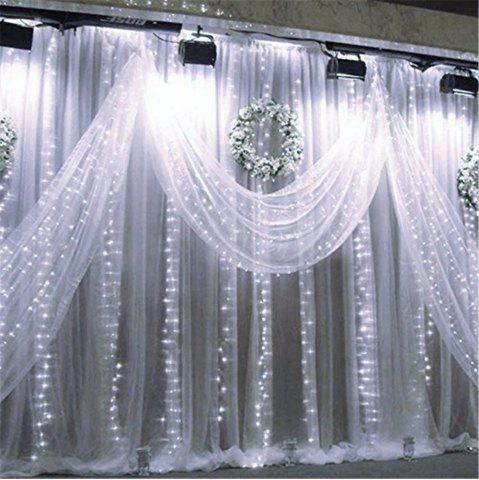 Latest SUPli 300 LED Window Curtain String Light for Wedding Party Home Garden Bedroom Outdoor Indoor Wall Decorations