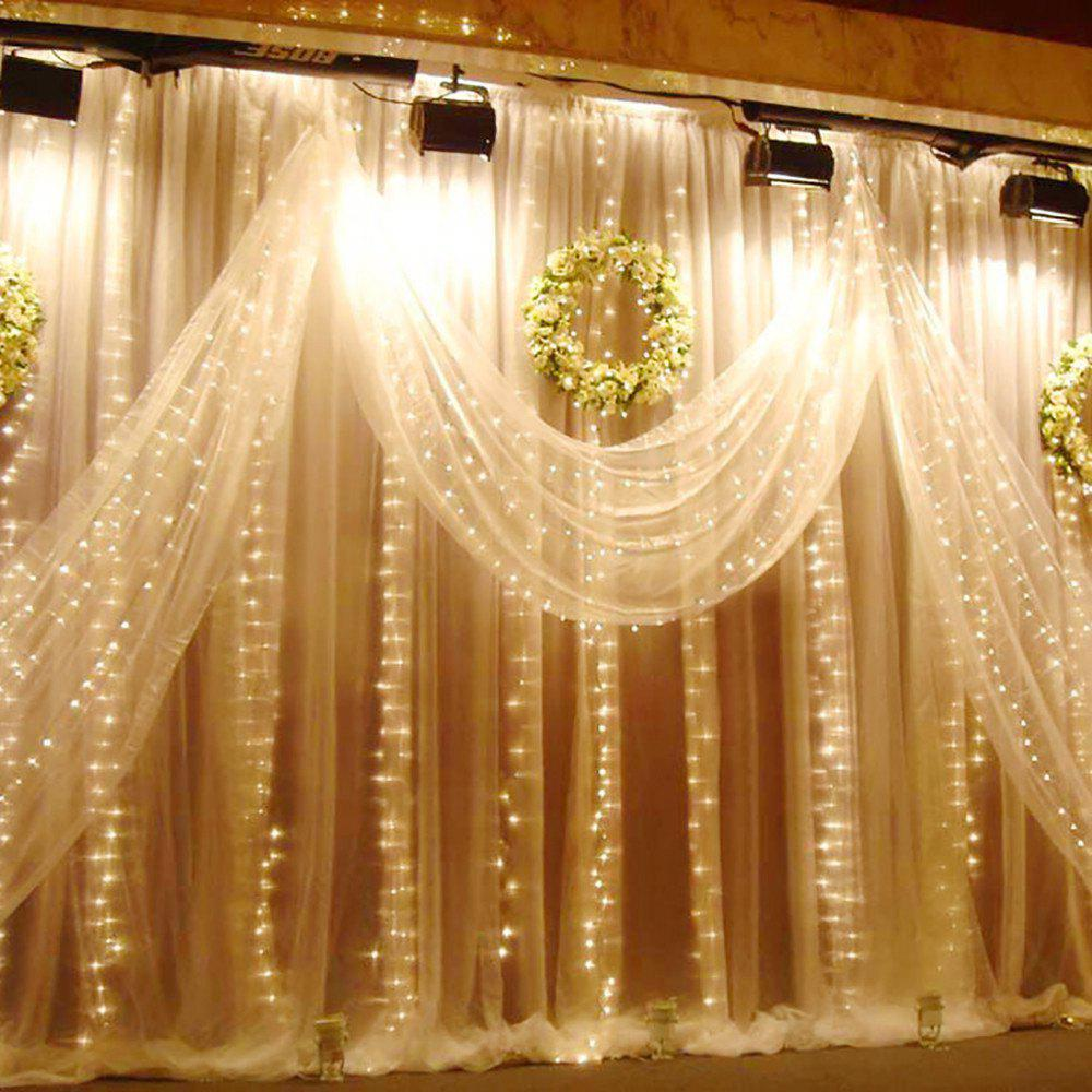 Warm White Eu Ac220-240 Supli 300 Led Window Curtain String Light ...