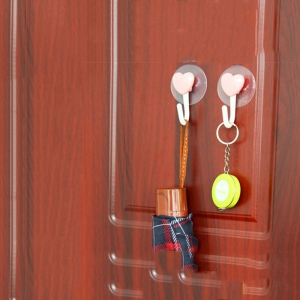 DIHE Bathroom Hook Strong Chuck Loveliness No Screw 2PCS -