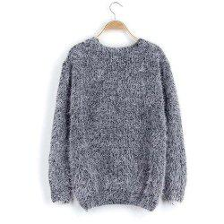 Candy Color Mohair Sweater Female Loose Knit -