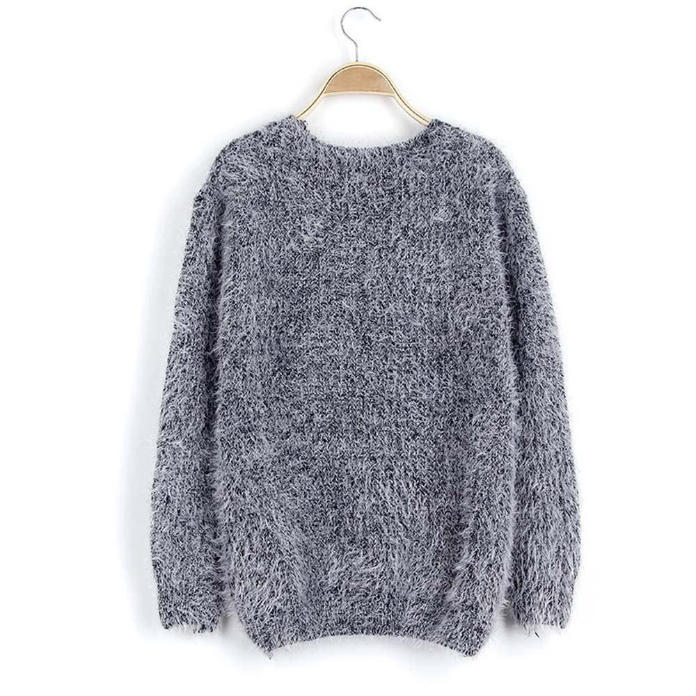 Latest Candy Color Mohair Sweater Female Loose Knit