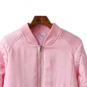 A Baseball Uniform Coat Collar Female Short Zipper -