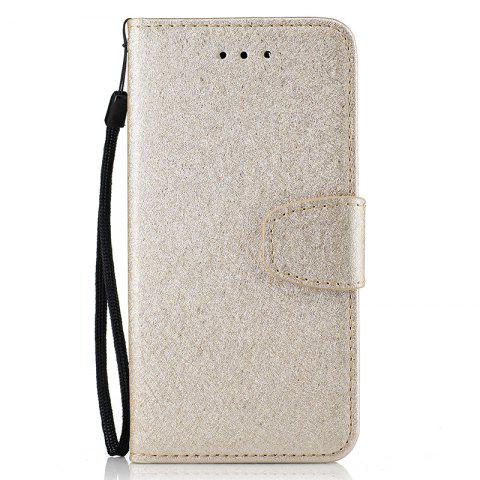 Buy Nacy Natural Silk Double Color Texture  PU Leather Case with Wallet Card Slots for iPhone 7 / 8
