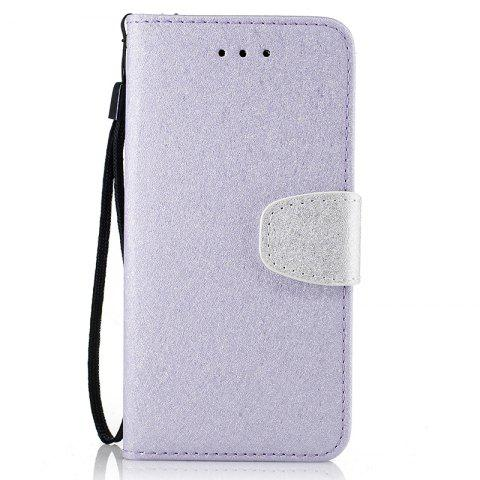 Outfit Nacy Natural Silk Double Color Texture  PU Leather Case with Wallet Card Slots for iPhone 7 / 8