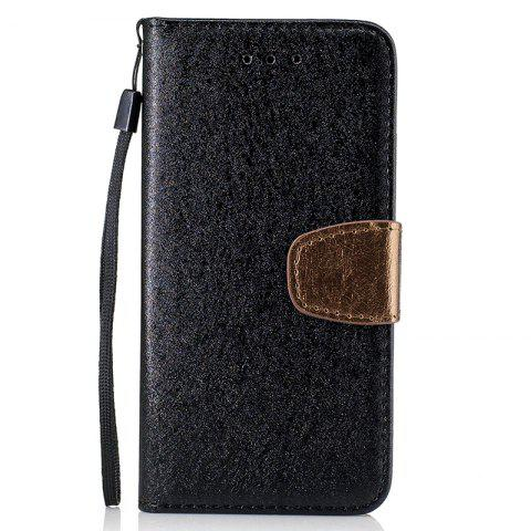 Affordable Nacy Natural Silk Double Color Texture  PU Leather Case with Wallet Card Slots for iPhone 7 / 8