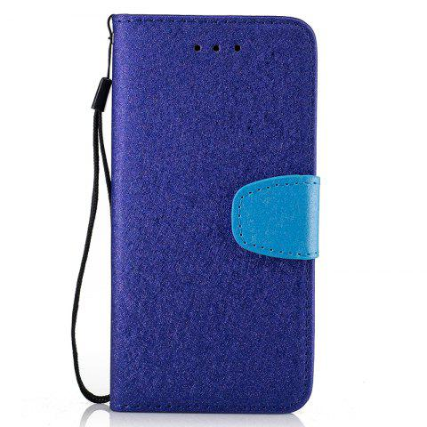 Online Nacy Natural Silk Double Color Texture  PU Leather Case with Wallet Card Slots for iPhone 7 Plus / 8 Plus