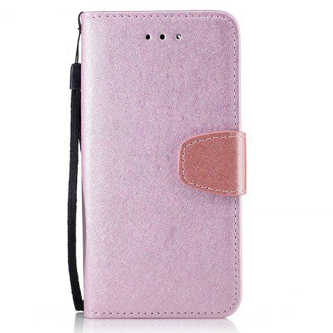 Affordable Nacy Natural Silk Double Color Texture  PU Leather Case with Wallet Card Slots for iPhone 7 Plus / 8 Plus