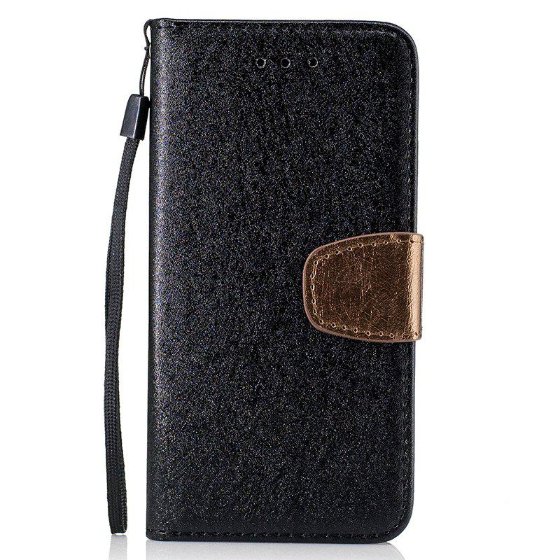 Latest Nacy Natural Silk Double Color Texture  PU Leather Case with Wallet Card Slots for iPhone 7 Plus / 8 Plus