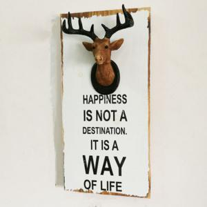 Wall Hanging Art Decoration Cartoon Deer Head Design -