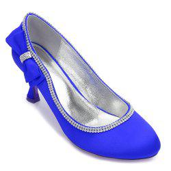 Womens Wedding Shoes Comfort  Basic Pump Ankle Strap Spring Summer Satin Wedding Dress Party Evening -