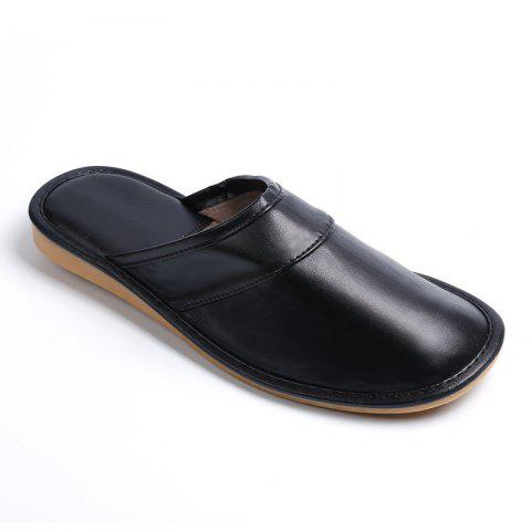 Cheap Autumn and Winter Male and Female Skin Cotton Tow Lovers Style Slippers