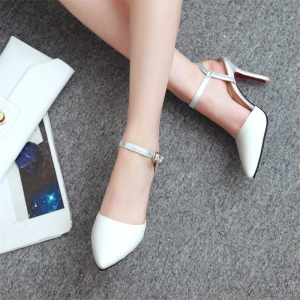 Women Shoes Ankle Strap Buckle Strap Dress Thin Heels High Heel Sandals -