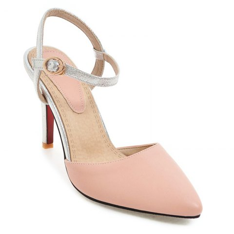 New Women Shoes Ankle Strap Buckle Strap Dress Thin Heels High Heel Sandals