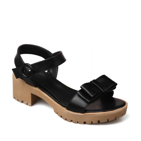 Affordable Women's Sandals Summer Slingback Gladiator Bowknot Buckle