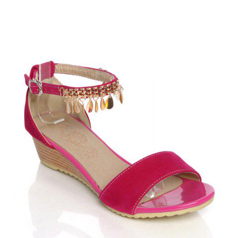 Latest Women's Sandals Summer Comfort Leatherette Wedding Low Heel Buckle Hollow-out