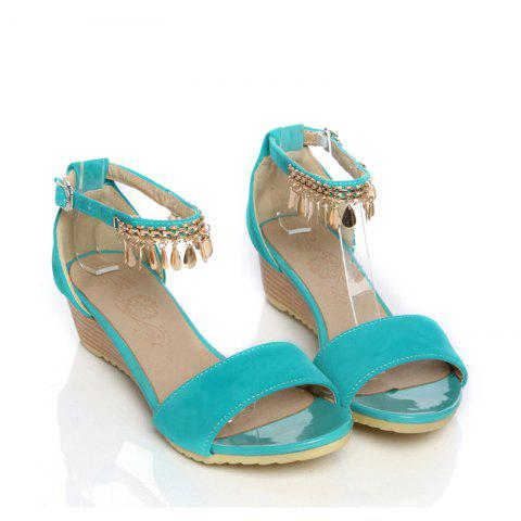 Chic Women's Sandals Summer Comfort Leatherette Wedding Low Heel Buckle Hollow-out