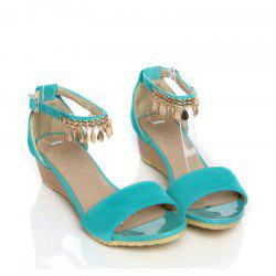 Women's Sandals Summer Comfort Leatherette Wedding Low Heel Buckle Hollow-out -