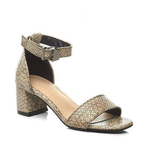 Shops Women's Sandals Summer Gladiator Leatherette Casual Chunky Heel Buckle Hollow-out Yellow Beige Black
