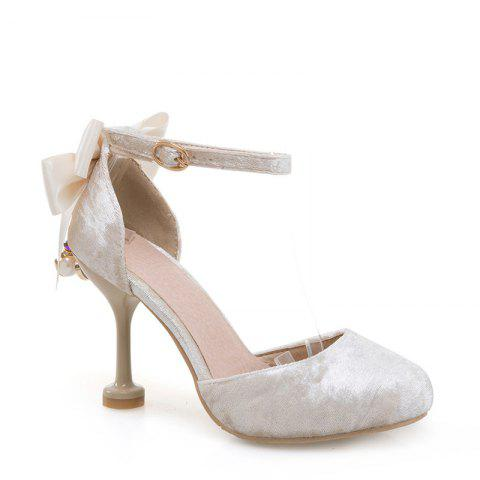 Fancy Women's Sandals Summer Club Shoes Wedding Party Dress Stiletto Heel Bowknot Buckle