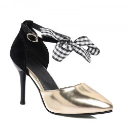 Women's Sandals Summer Club Shoes Dress Stiletto Heel Bowknot -