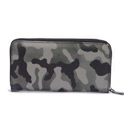 Man's Camouflage Gray Stylish Fashion Cute Wallet Outdoor Sporting Purse -