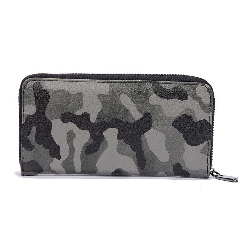 Outfits Man's Camouflage Gray Stylish Fashion Cute Wallet Outdoor Sporting Purse