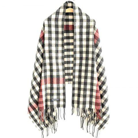 Sale New Woman Acrylic Fibers Lattice Tassel Muffler Shawl