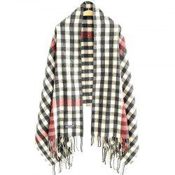 New Woman Acrylic Fibers Lattice Tassel Muffler Shawl -