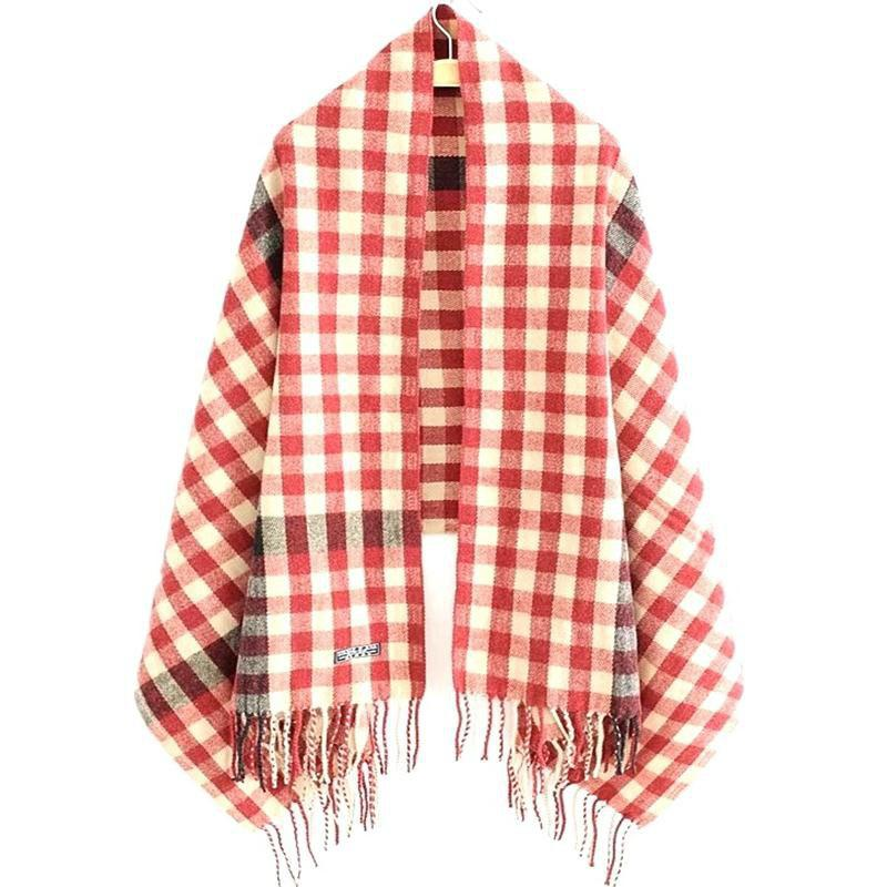 Outfits New Woman Acrylic Fibers Lattice Tassel Muffler Shawl
