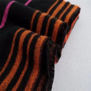 New Woman Acrylic Fibers Bright Color Stripe Keep Warm Scarf -