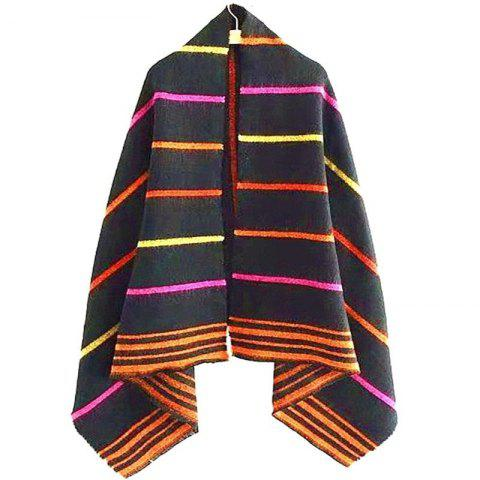 Cheap New Woman Acrylic Fibers Bright Color Stripe Keep Warm Scarf