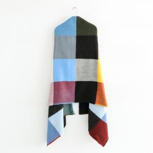 New Lady European and American Style Multicolor Plaid Patterns Scarf -