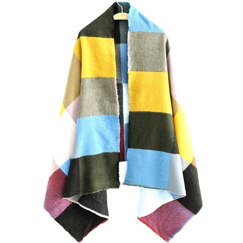 Buy New Lady European and American Style Multicolor Plaid Patterns Scarf