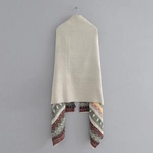 New Lady European and American Style Grey Geometry Scarf -