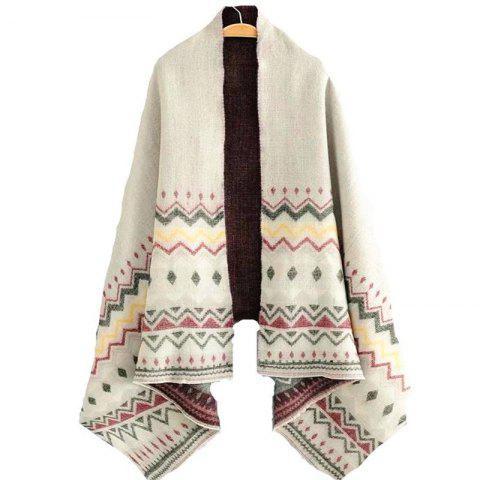 Fashion New Lady European and American Style Grey Geometry Scarf
