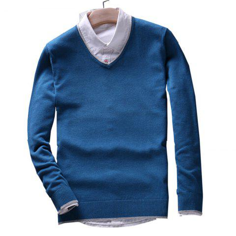 Latest Men's Pure Color Casual Knitted Sweater
