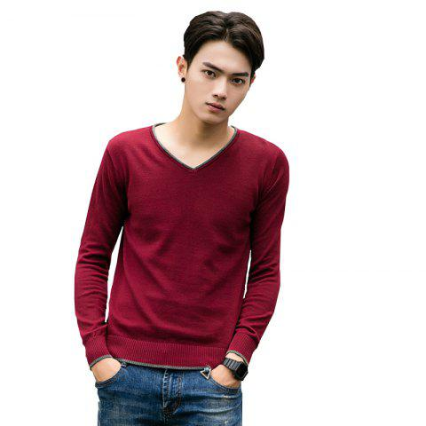 Best Men's Pure Color Casual Knitted Sweater
