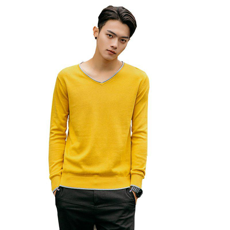 Outfit Men's Pure Color Casual Knitted Sweater