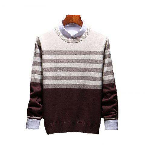 Shop Men's Slim Comfortably Knitted Long Sleeve Sweater