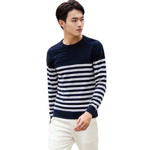 Best Men's Fashion Slim Fit Casual Round Neck Warm Knitted Sweater