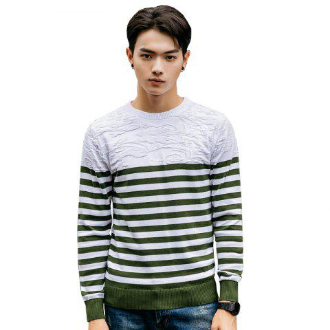 Store Men's Fashion Slim Fit Casual Round Neck Warm Knitted Sweater