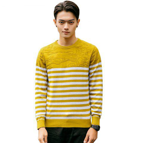 New Men's Fashion Slim Fit Casual Round Neck Warm Knitted Sweater